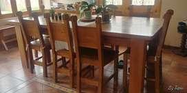 Juego de comedor 8 sillas madera