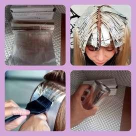 Papel aluminio para mechas en peluquería