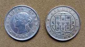 Moneda de 1/2 penique Jamaica 1889