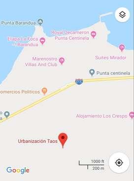 Vendo, terreno en Punta Blanca en Urb Taos - Via Santa Elena