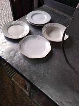 Platos hondos y de postre de cerámica de 20 cm