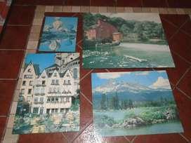 Cuatro cuadros decorativos