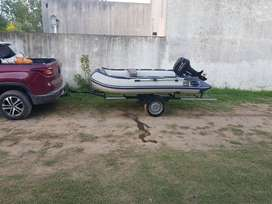 Vendo Bote Hifei 3.20 con quilla inflable y motor Parsun 15 hp 2t