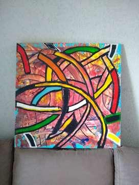 Pintura en lienzo y óleo arte abstracto