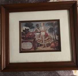 Set de 6 cuadros de 35x40 cm en madera y vidrio antireflectivo