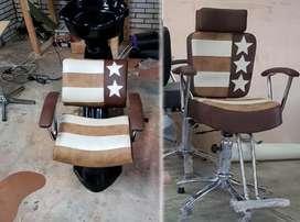 silla de corte y lavacabezas vintage para barberia, nuevo