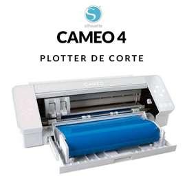 Plotter de Corte Silhouette Cameo 4 - Colores Negro / Blanco - Vinil Papeles Cartulinas Cuero Sticker Etc