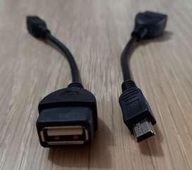 Adaptador convertidor USB hembra a miniUSB macho