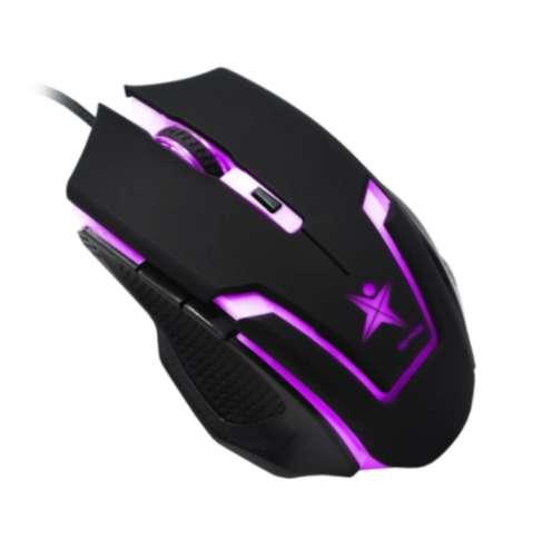 Mouse Gamer Usb 7 Botones Star Tec G6, 800/ 1200/ 1600/ 2400 dpi