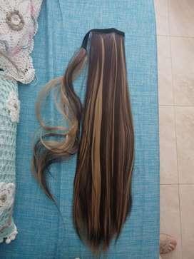 Colas de caballo extensión cabello