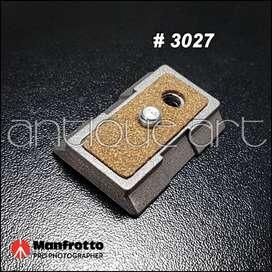 A64 Plate 3027 Manfrotto 1/4 Quick Release TriPod Galleta
