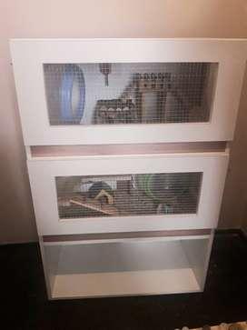 Mueble con 2 Terrarios de Melamina + Estante 120x80x40 para Hamsters 3 Meses de Uso Zona Centro de Rosario