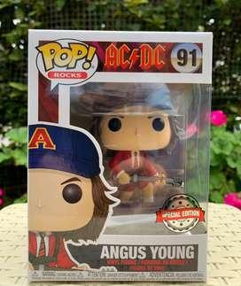 Exclusivo FunkoPop AC/DC Angus Young Rojo # 91