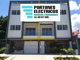Sevende y se instalan portones eléctricos domos móviles