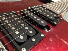 Guitarra electrica + amplificador + pedal de metal