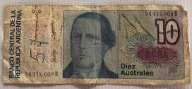 Billete de 10 Australes