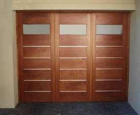 Fabricación y venta de aberturas, puertas, ventanas, muebles. Disponemos madera, aluminio, chapa