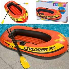 Barco Bote Hinchable Con Remos Intex Explorer200  1.85mx94cmx41