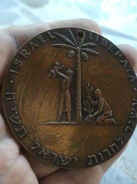 Medalla Bronce Antigua Espectacular Unic