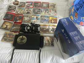 Vendo PS3 slim 500gb+ 25 juegos originales+ 2 controles originales