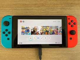 Vendo nintendo switch NEON ¡con 6 juegos!