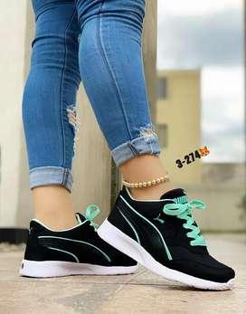 Zapato Tennis Deportivo Puma Para Mujer