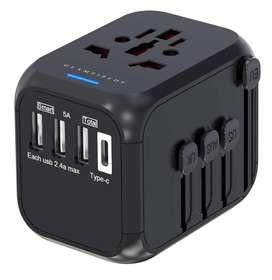 Cargador Convertidor Universal Adaptador Robusto Viajero puertos USB para viaje regalo mochilero