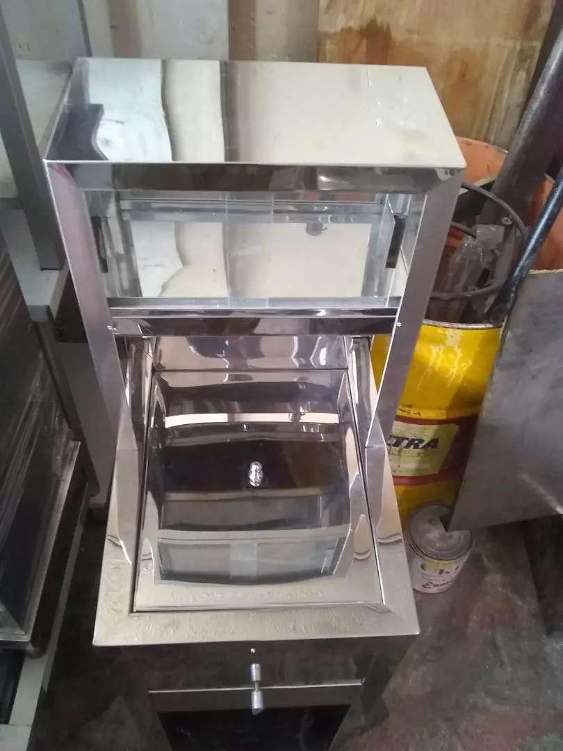 Freidor sencillo con vitrina 0