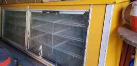 Heladera mostrador 4 puertas acero
