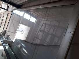 Paño fijo de aluminio con vidrio