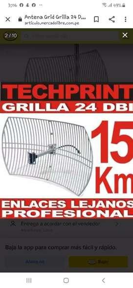 Vendo antena grilla tp link de 2.4 g segunda mano  Perú