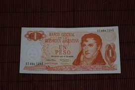 "Billete Argentino 1 peso serie ""Pesos Ley 18188"""