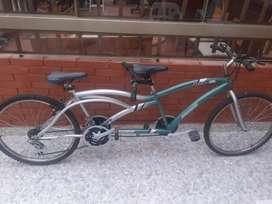Bicicleta de 2 puestos.