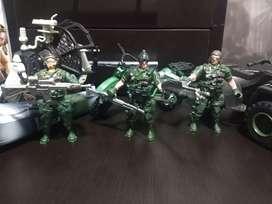 Colección De Vehículos Y Soldados De Guerra