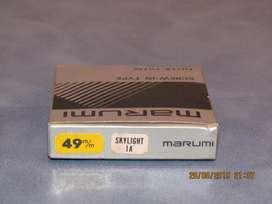 Filtro Marumi Skylight 1A 49 mm. Nuevo. Estuche Original.