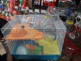 Jaula para hamster de 2 niveles