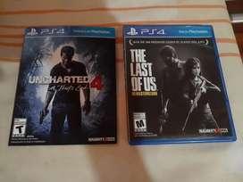 Juegos Ps4 Tha last of US  y Uncharted 4