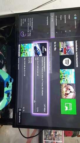 Vendo Xbox one poco uso barato con 5 juegos 2 controles