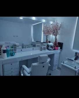 Peinadora (mueble base) y espejo 42004