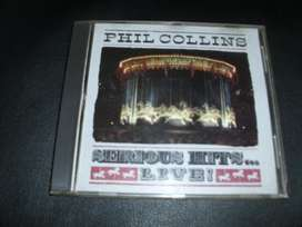 "PHILL COLLINS CD "" SERIOUS HITS LIVE, made in usa"