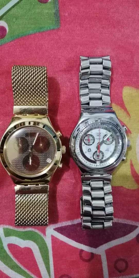 Vendo o cambio relojes swatch irony con cronografo en excelentes condiciones 0