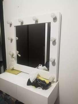 Espejo tocador luces