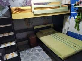Camarote con cama nido +  repisa + colchones