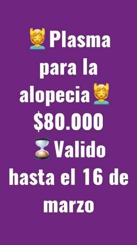 Plasma capilar para la alopecia 80.000 promo