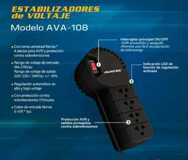 Estabilizador De Voltaje Avatec AVA-108 4 Tomas
