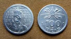 Moneda de 100 reis Brasil 1932