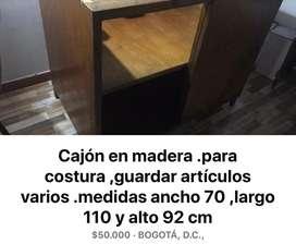 Cajon en Madera ,ganga ,para guardar atticulos .