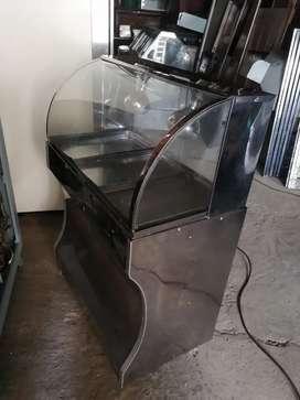 Vitrina con calefacción graduable de  1 metro x 55