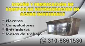 Fabricamos equipos de refrigeración en Acero Inoxidable
