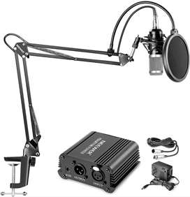 MICROFONO CONDENSADOR NEEWER NW-800 + KIT BRAZO STAND + PHANTOM POWER 48V